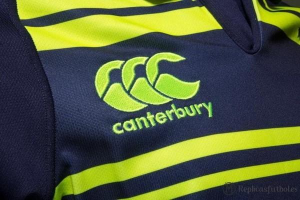 Camiseta Leinster Segunda 2017 2018 Negro Verde Replicas Rugby 191fcf4630f48