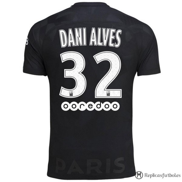 Camiseta Paris Saint Germain Alves Tercera Dani 2017/2018 Replicas Futbol