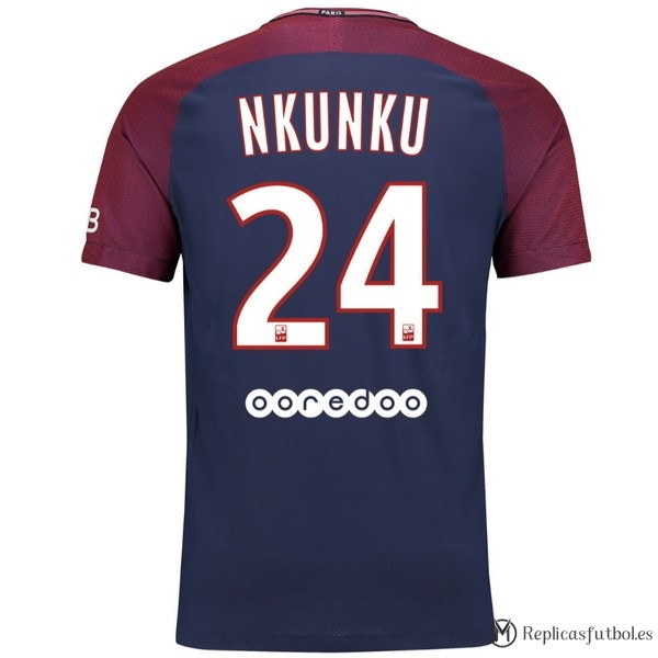 Camiseta Paris Saint Germain Primera Nkunku 2017/2018 Replicas Futbol