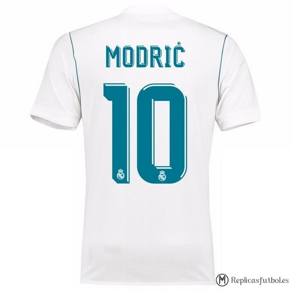Camiseta Real Madrid Primera Modric 2017/2018 Replicas Futbol