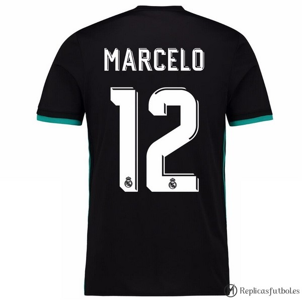 Camiseta Real Madrid Segunda Marcelo 2017/2018 Replicas Futbol