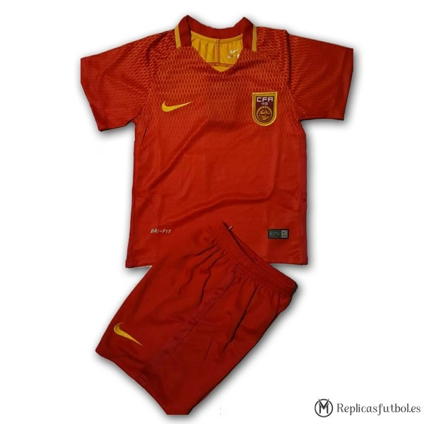 Camiseta Seleccion China Niño Primera 2017 Replicas Futbol