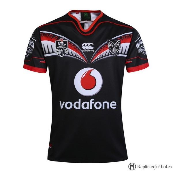 Camiseta Warriors Primera 2017/2018 Negro Replicas Rugby
