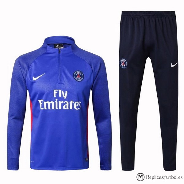 Chandal Paris Saint Germain 2017/18 Azul Rojo Blanco Replicas Futbol