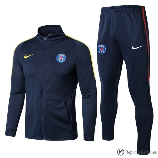 Chandal Paris Saint Germain 2017/2018 Azul Amarillo Replicas Futbol