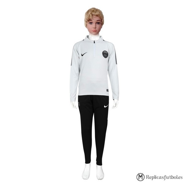 Chandal Paris Saint Germain Niño 2017/2018 Gris Blanco Replicas Futbol