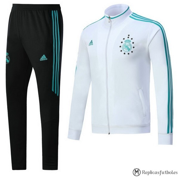 Chandal Real Madrid 2017/2018 Blanco Verde Negro Replicas Futbol