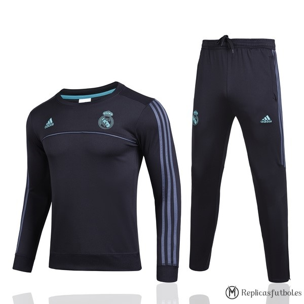 Chandal Real Madrid 2017/2018 Negro Verde Replicas Futbol