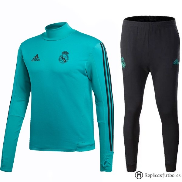 Chandal Real Madrid 2017/2018 Verde Marino Negro Replicas Futbol