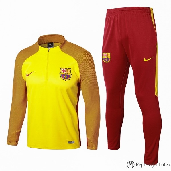Chandal Barcelona 2017/2018 Amarillo Replicas Futbol