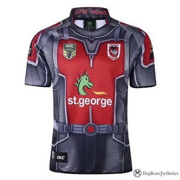 Camiseta St.George Illawarra Dragons 2017/2018 Gris Replicas Rugby