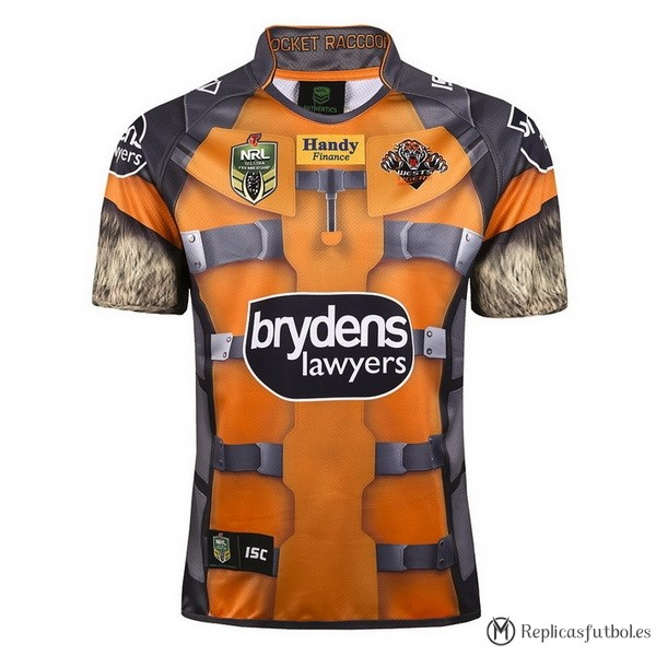 Camiseta Wests Tigers 2017/2018 Amarillo Replicas Rugby