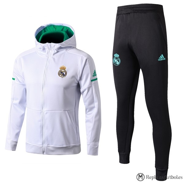 Chandal Real Madrid 2017/2018 Verde Blanco Negro Replicas Futbol