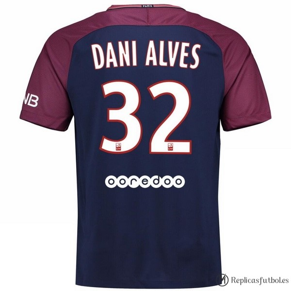 Camiseta Paris Saint Germain Alves Primera Dani 2017/2018 Replicas Futbol