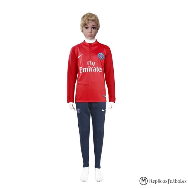 Chandal Paris Saint Germain Niño 2017/2018 Rojo Replicas Futbol