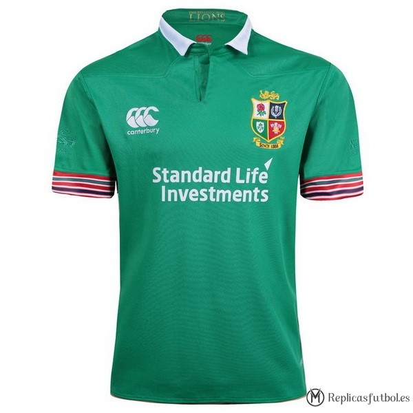 Camiseta Entrenamiento British and Irish Lions 2017/2018 Verde Replicas Rugby