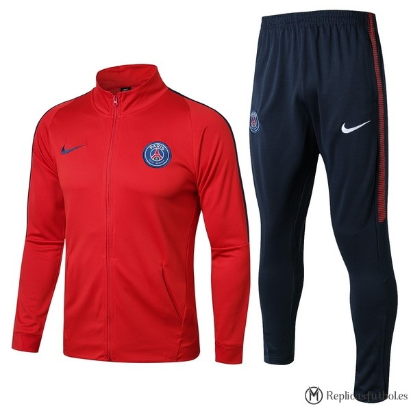 Chandal Paris Saint Germain 2017/2018 Azul Marino Rojo Replicas Futbol