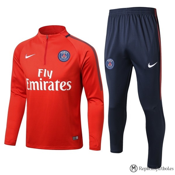 Chandal Paris Saint Germain Niño 2017/2018 Rojo Azul Replicas Futbol