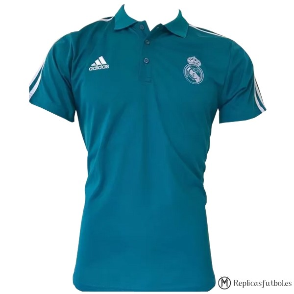 Polo Real Madrid 2017/2018 Blanco Azul Replicas Futbol