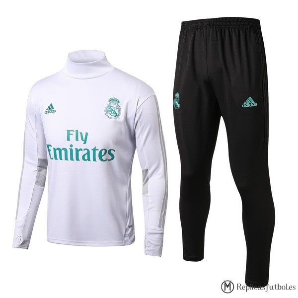 Chandal Real Madrid 2017 2018 Blanco Negro Replicas Futbol 6c2dbb34fe337