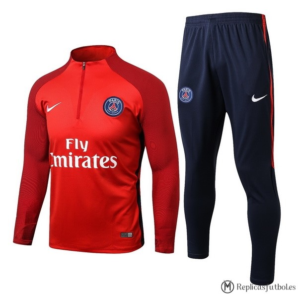 Chandal Paris Saint Germain 2017/2018 Rojo Replicas Futbol