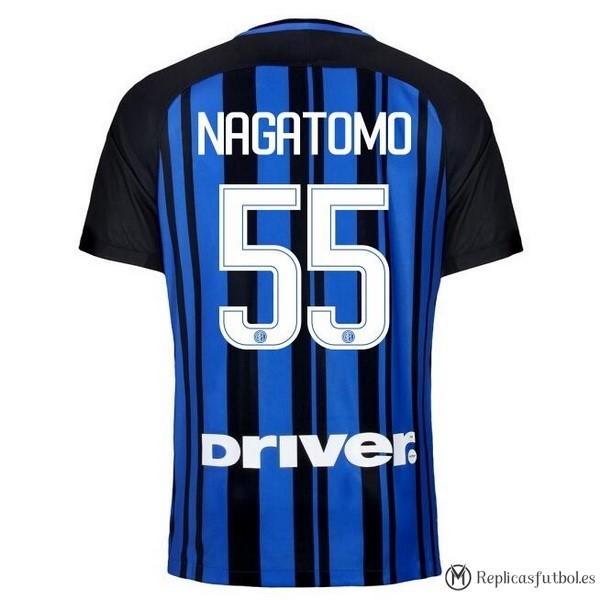 Camiseta Inter Primera Nagatomo 2017 2018 Replicas Futbol ccfd24b5548d7