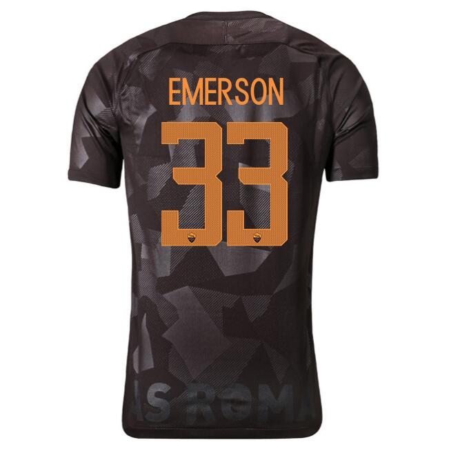 Camiseta AS Roma Primera Emerson 2017/2018 Replicas Futbol