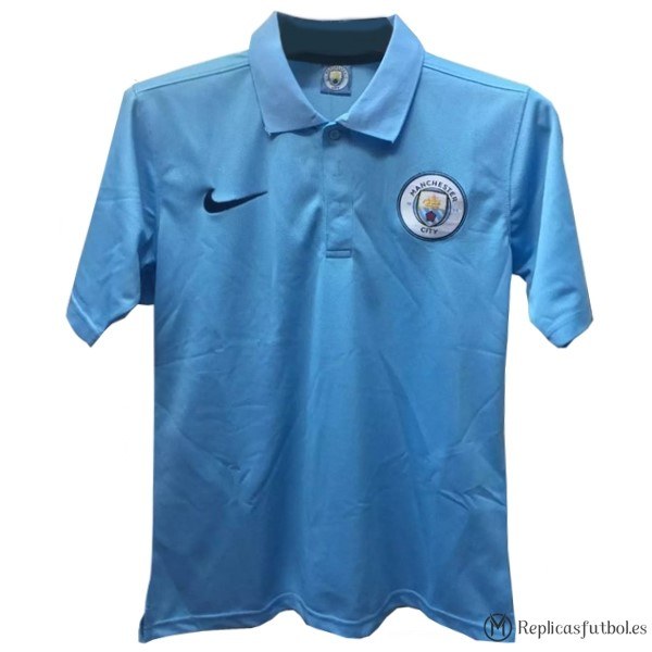 Polo Manchester City 2017/2018 Azul Replicas Futbol