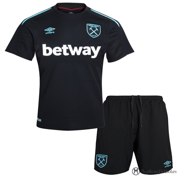 Camiseta West Ham United Niño Segunda 2017/2018 Replicas Futbol