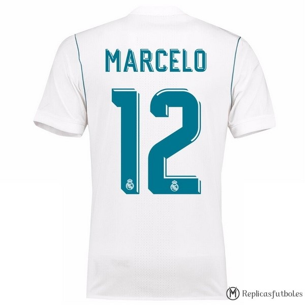 Camiseta Real Madrid Primera Marcelo 2017/2018 Replicas Futbol
