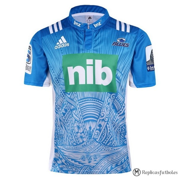 Camiseta Blues Segunda 2017/2018 Azul Replicas Rugby