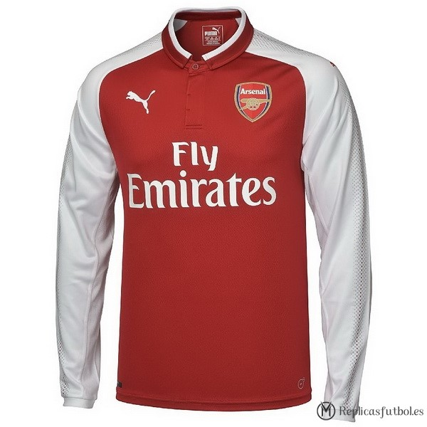 Camiseta Arsenal Primera ML 2017/2018 Replicas Futbol