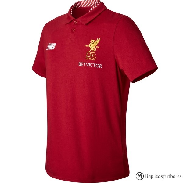 Polo Liverpool 2017/2018 Rojo Replicas Futbol
