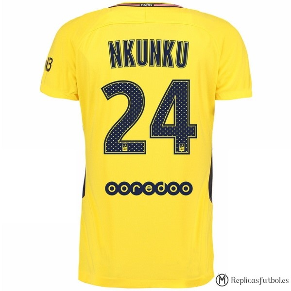 Camiseta Paris Saint Germain Segunda Nkunku 2017/2018 Replicas Futbol