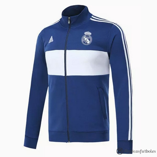 Chaqueta Real Madrid 2017/2018 Azul Blanco Replicas Futbol