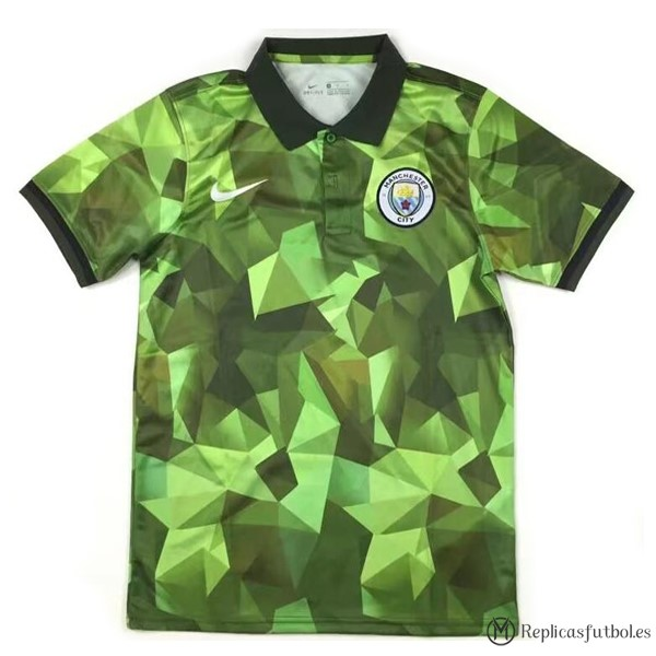 Polo Manchester City 2017/2018 Verde Replicas Futbol